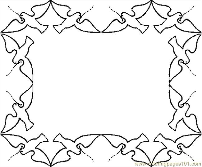 coloring pages flower borders - photo#7