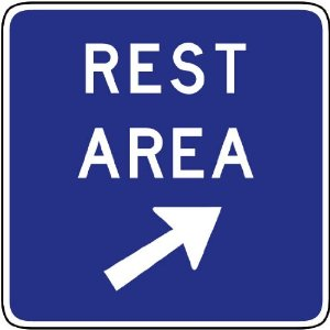 Amazon com street amp traffic sign wall decals rest area exit
