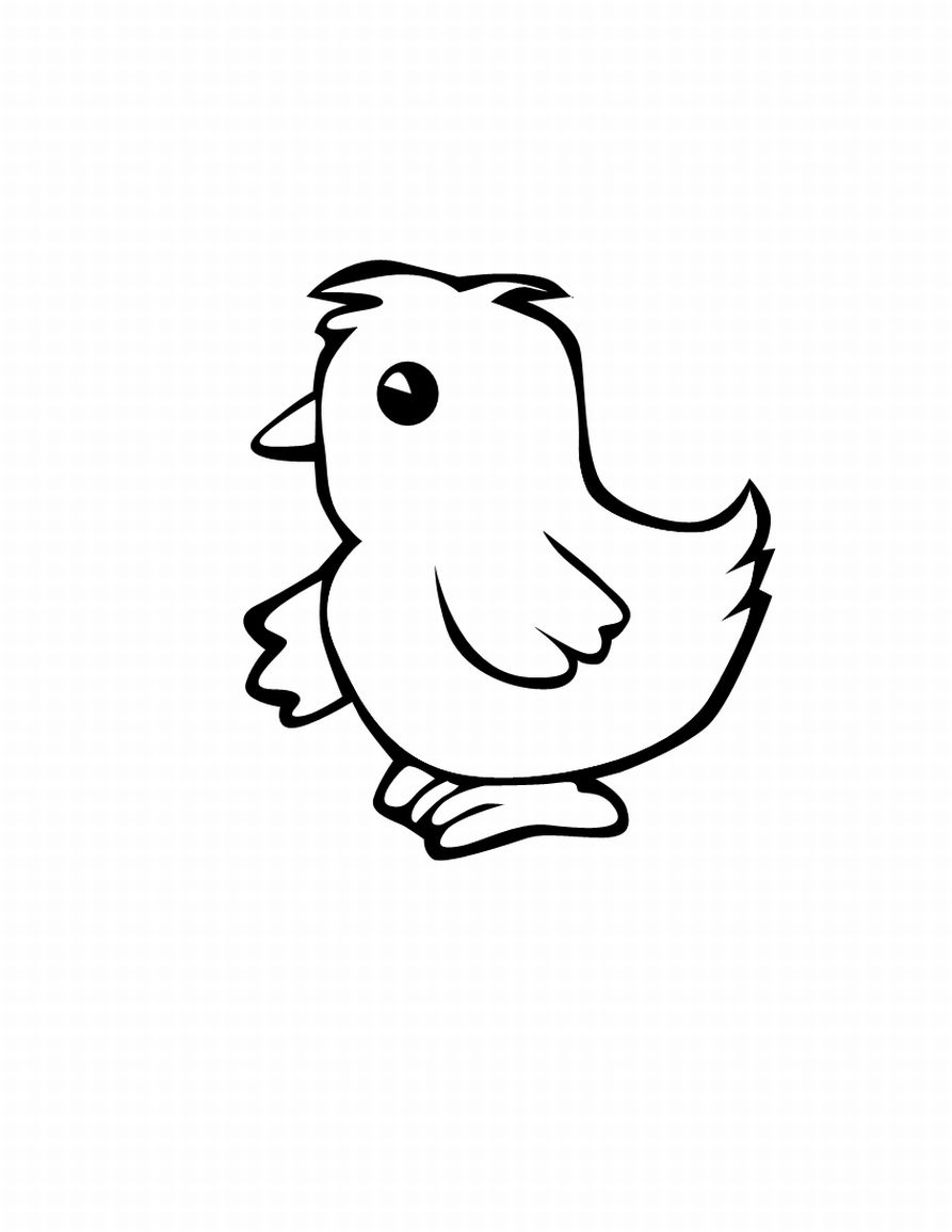 Line Drawing Chicken : Free coloring pages of baby chick outline