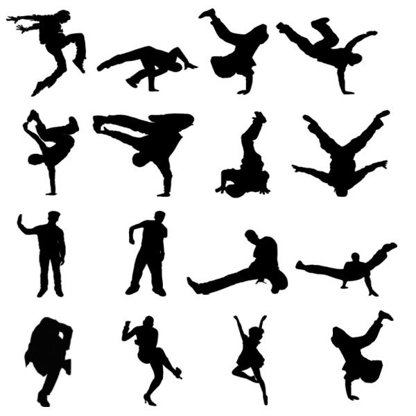 Break Dance Silhouette - ClipArt Best