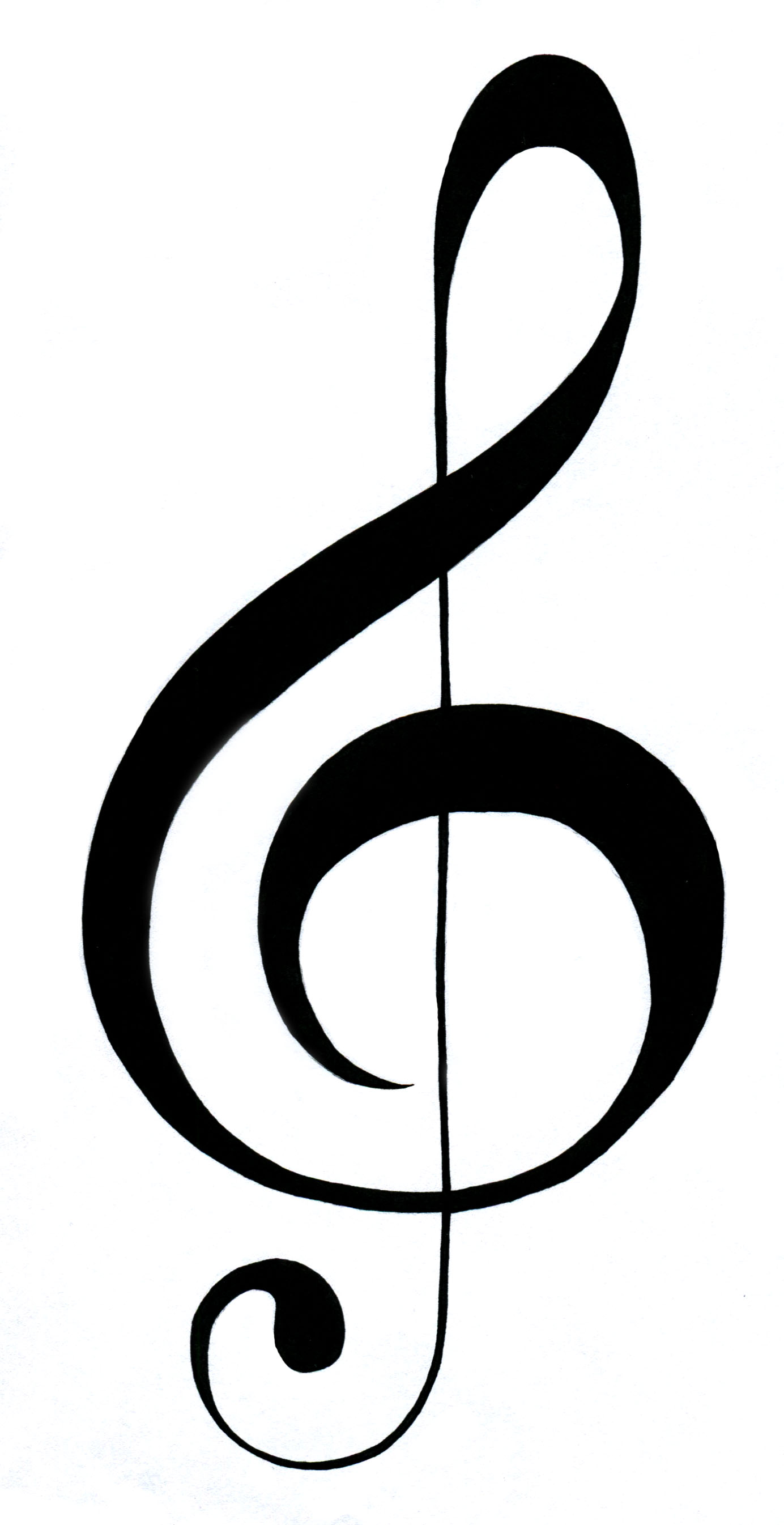 Line Art Notes : Treble clef pictures clipart best