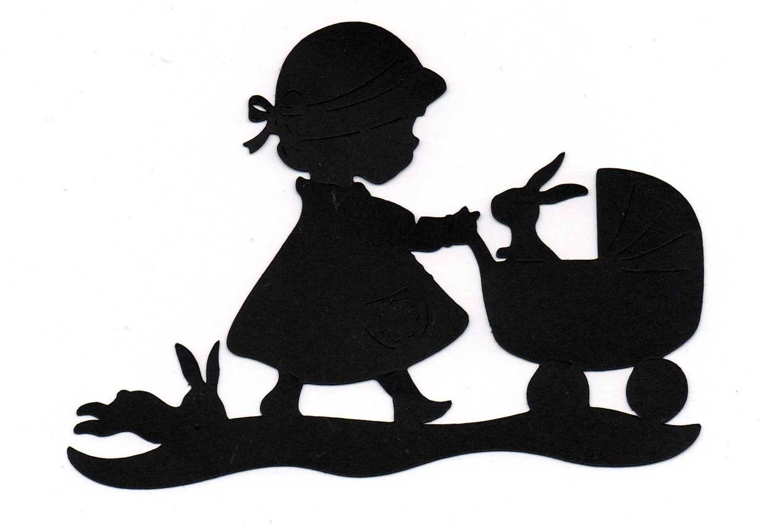 clipart image easter bunny silhouette - photo #24