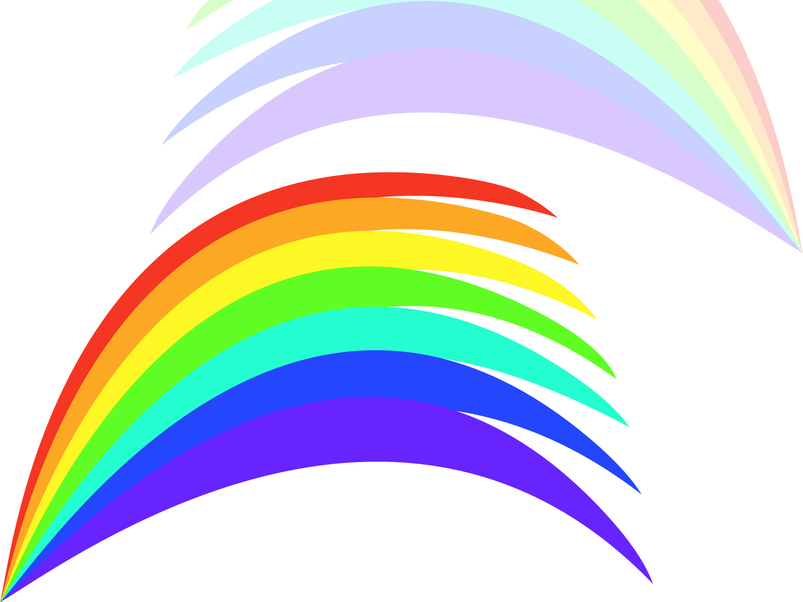 rainbow powerpoint backgrounds
