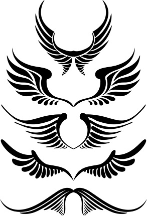 simple angel wings tattoo clipart best. Black Bedroom Furniture Sets. Home Design Ideas