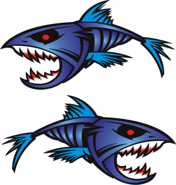 Fish decals clipart best for Free fishing stickers