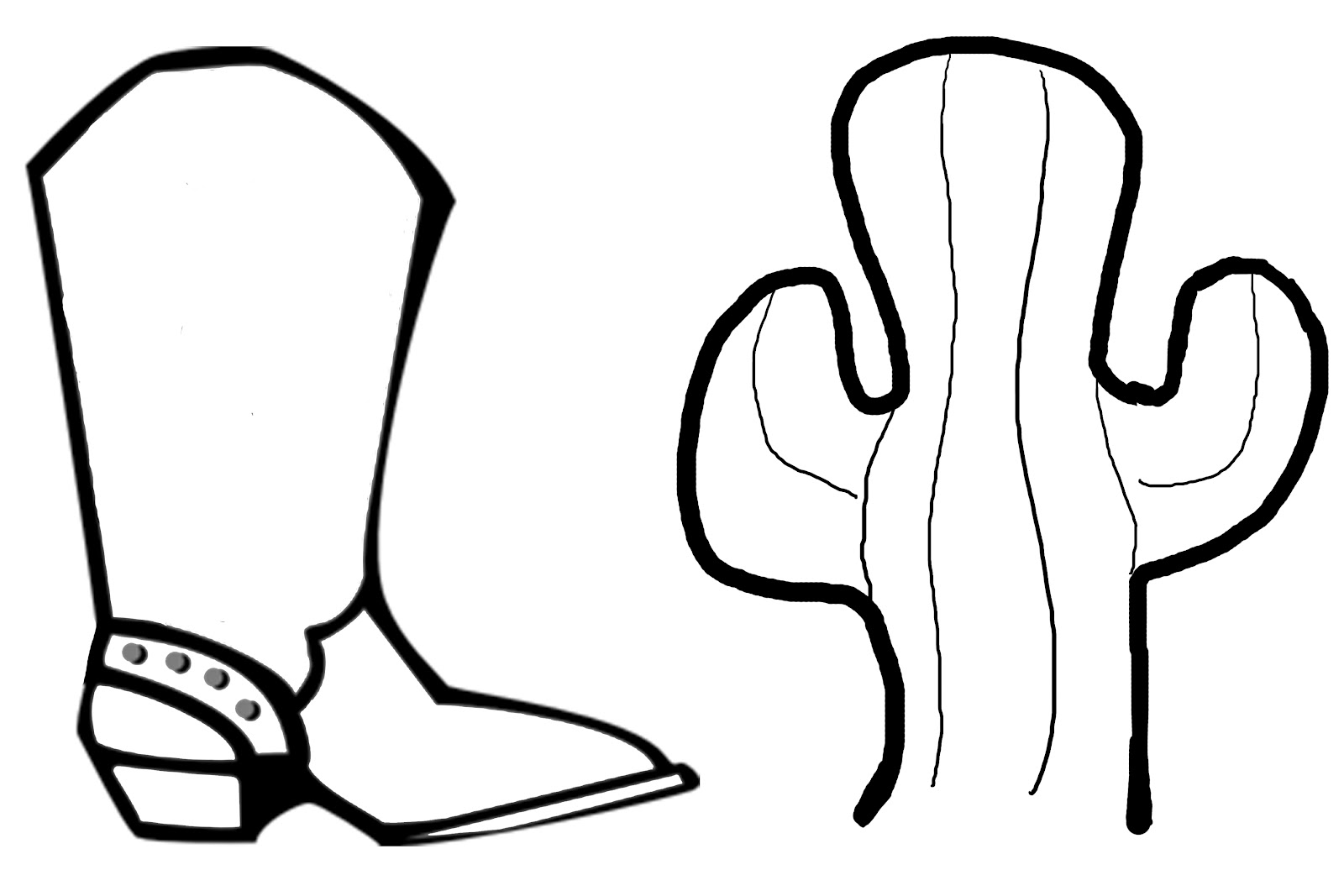 cartoon cowboy boots coloring pages - photo#30