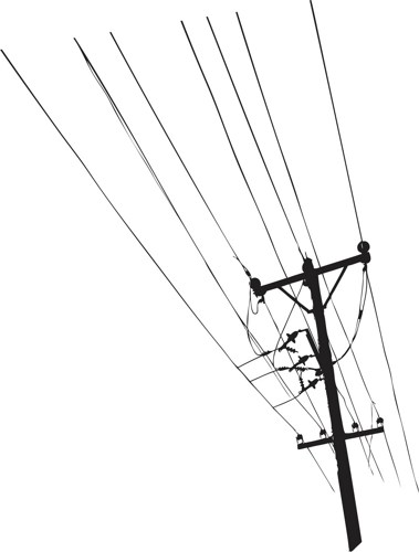 Power Lines Drawing - ClipArt Best