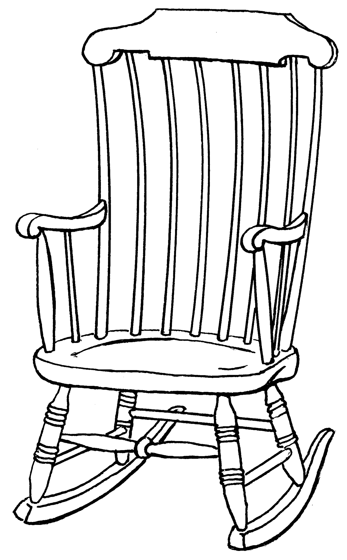 Scribbles Drawing And Coloring Book : Chair outline clipart best