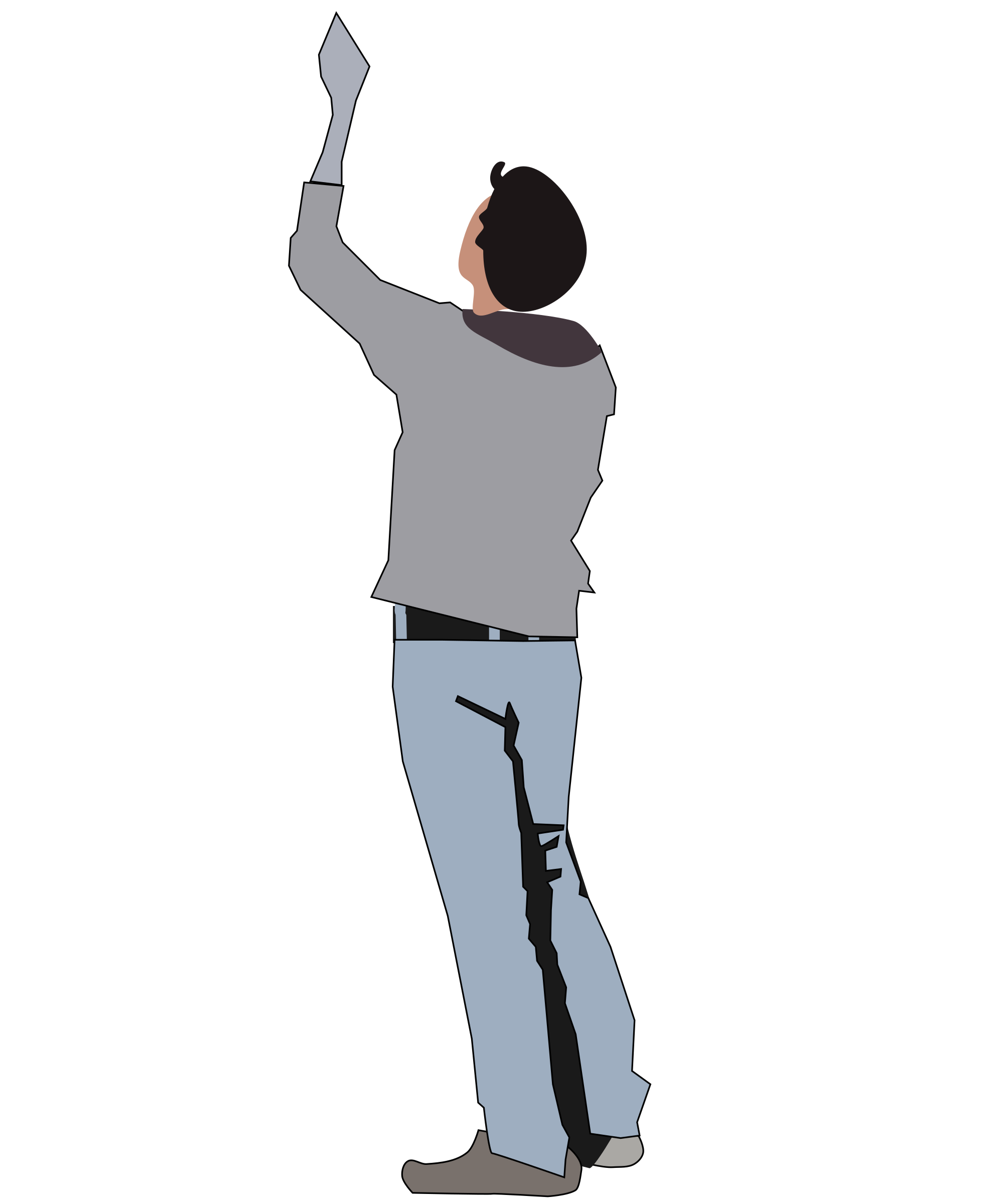 Person looking up clipart