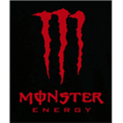 Black With Red Monster Drink