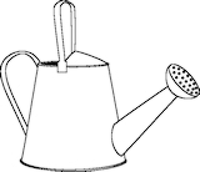 Watering Can Outline - ClipArt Best