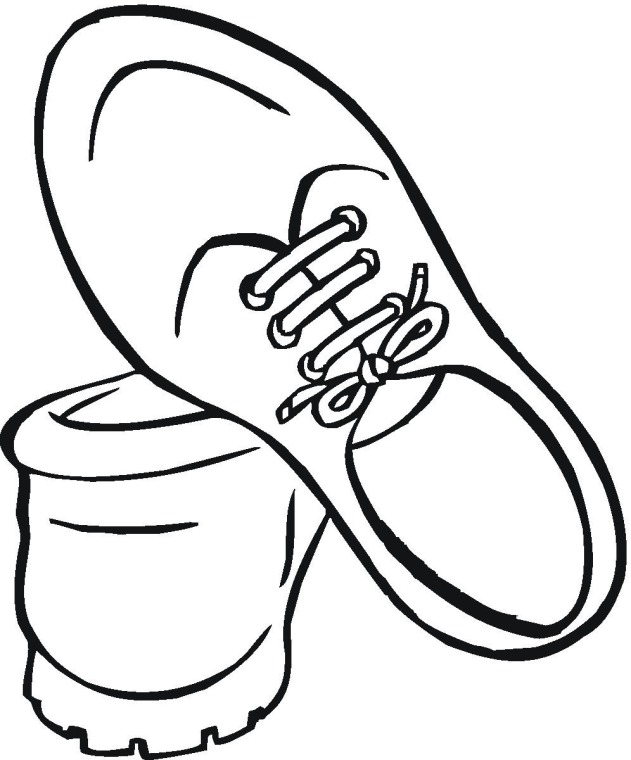 running shoes coloring pages - running shoe coloring page clipart best