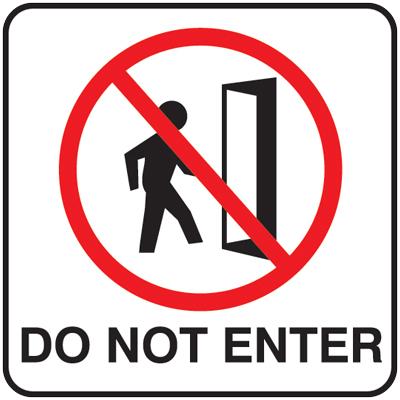 Do Not Enter Signs - ClipArt Best