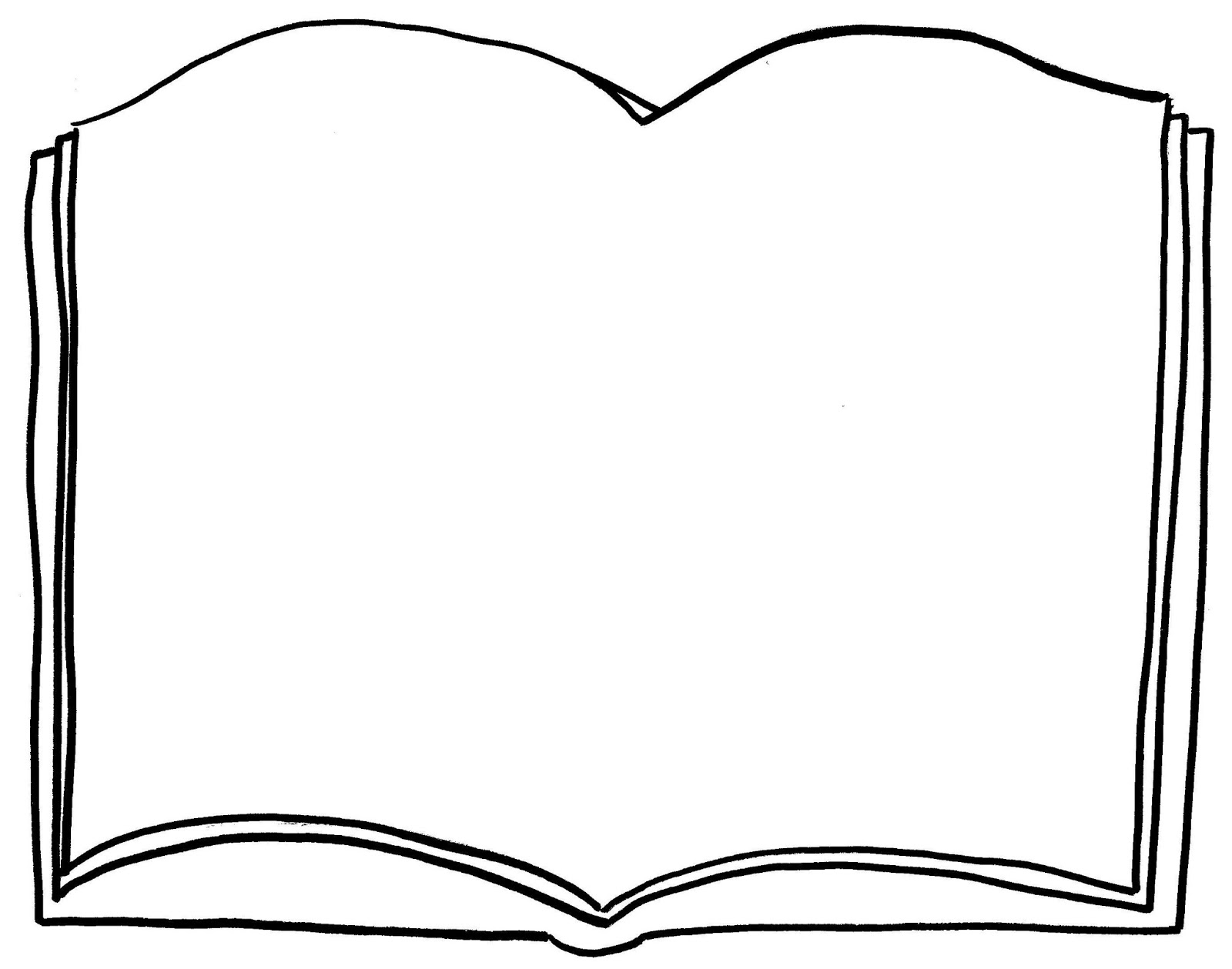 Open Book Coloring Page Clipart Best Books For Coloring