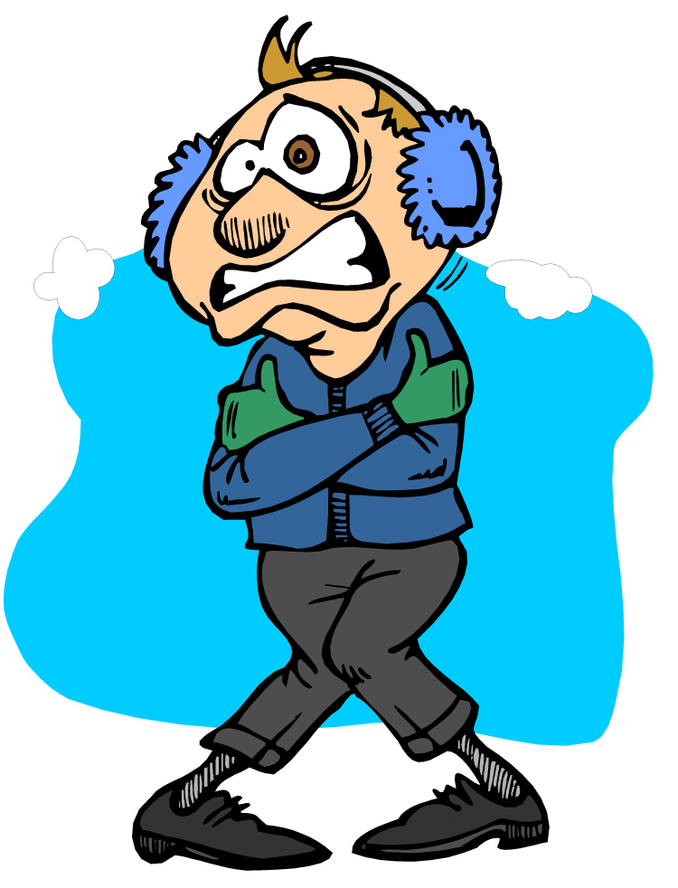 Freezing Cold Person Clipart