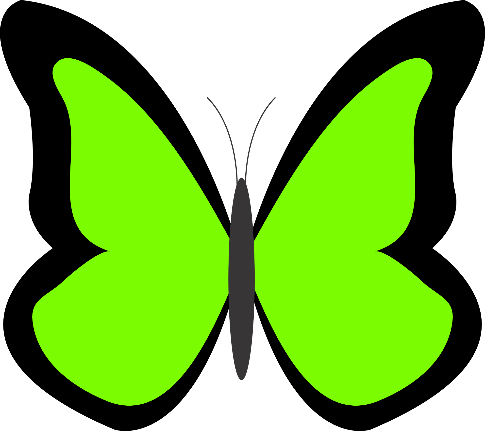 Green Butterfly Clipart - Free Clipart Images - ClipArt