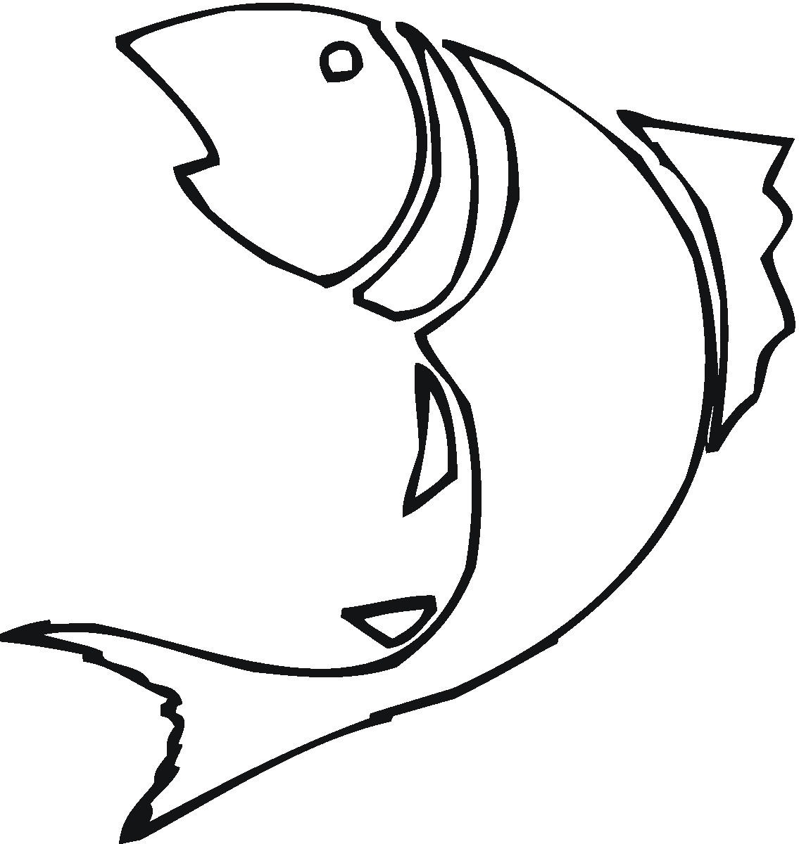 Black and white fish drawing clipart best for Best white fish
