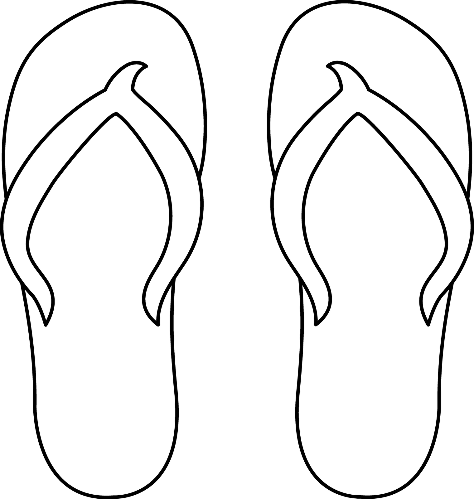 flip flop coloring pages - free coloring pages flip flops clipart best