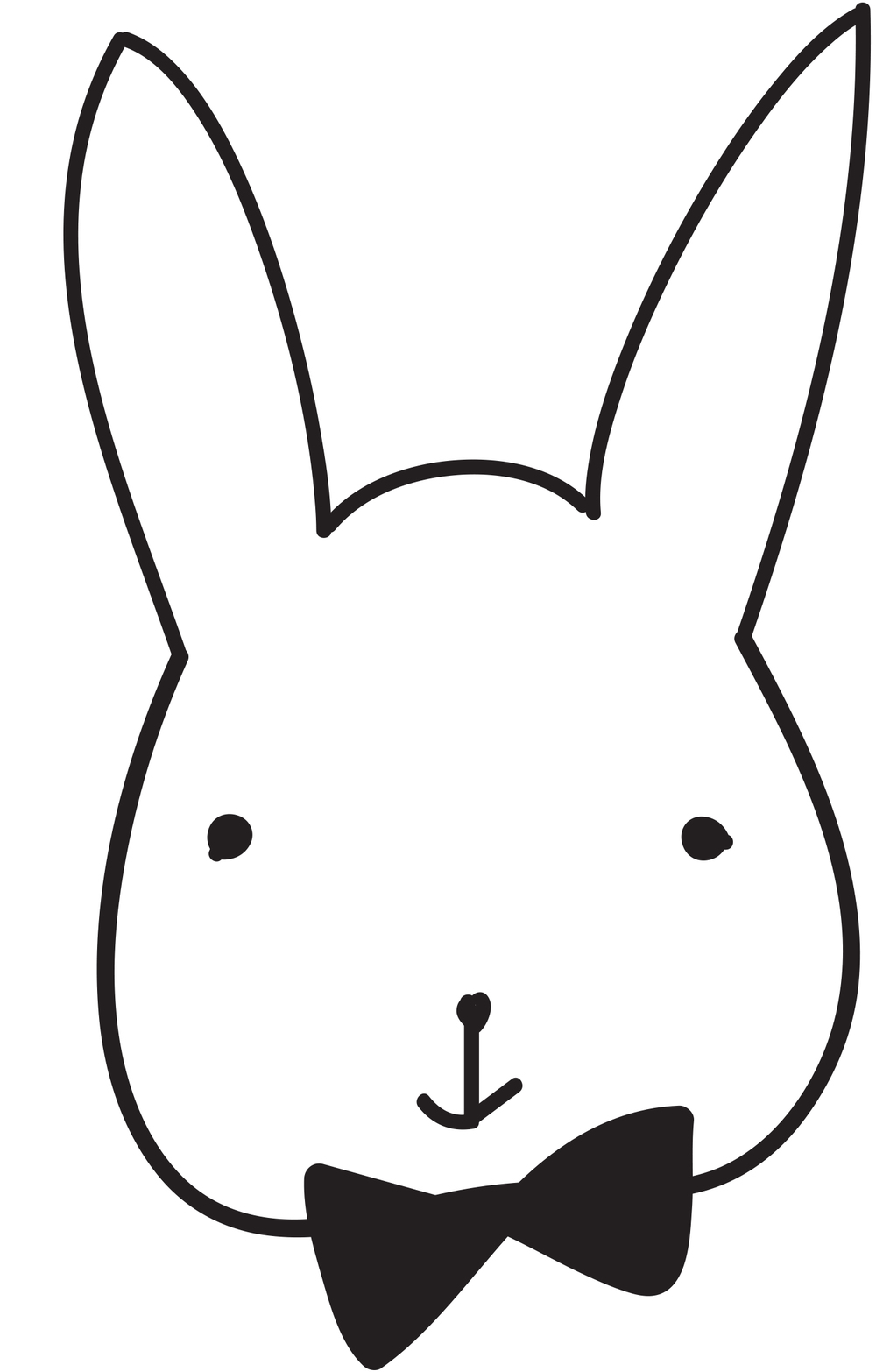 bunny stencil   clipart best