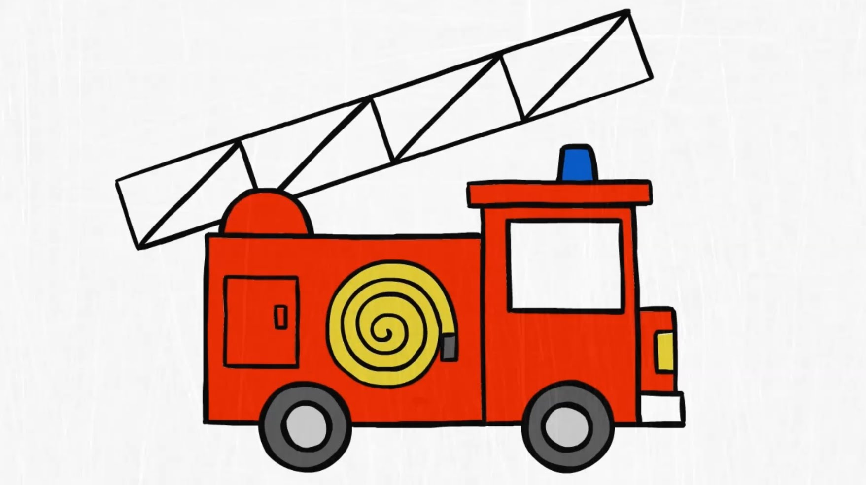 How to draw. a FIRE TRUCK - YouTube