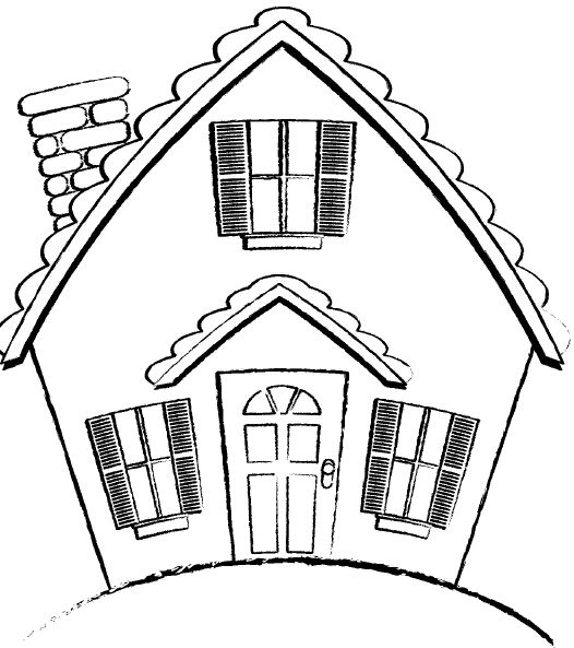 Line Art Images Of Houses : Line drawing house clipart best