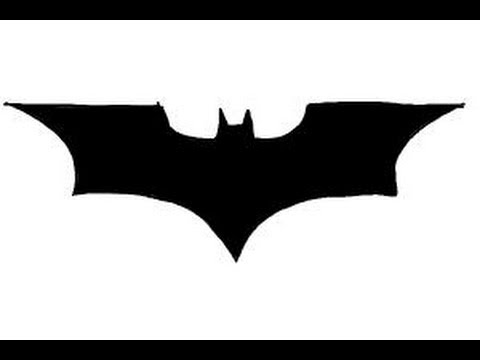 How to Draw Batman logo - YouTube
