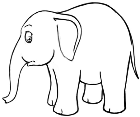 Cartoon Elephant Drawing - ClipArt Best