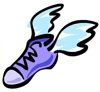 Running Shoes And Wings Cartoon
