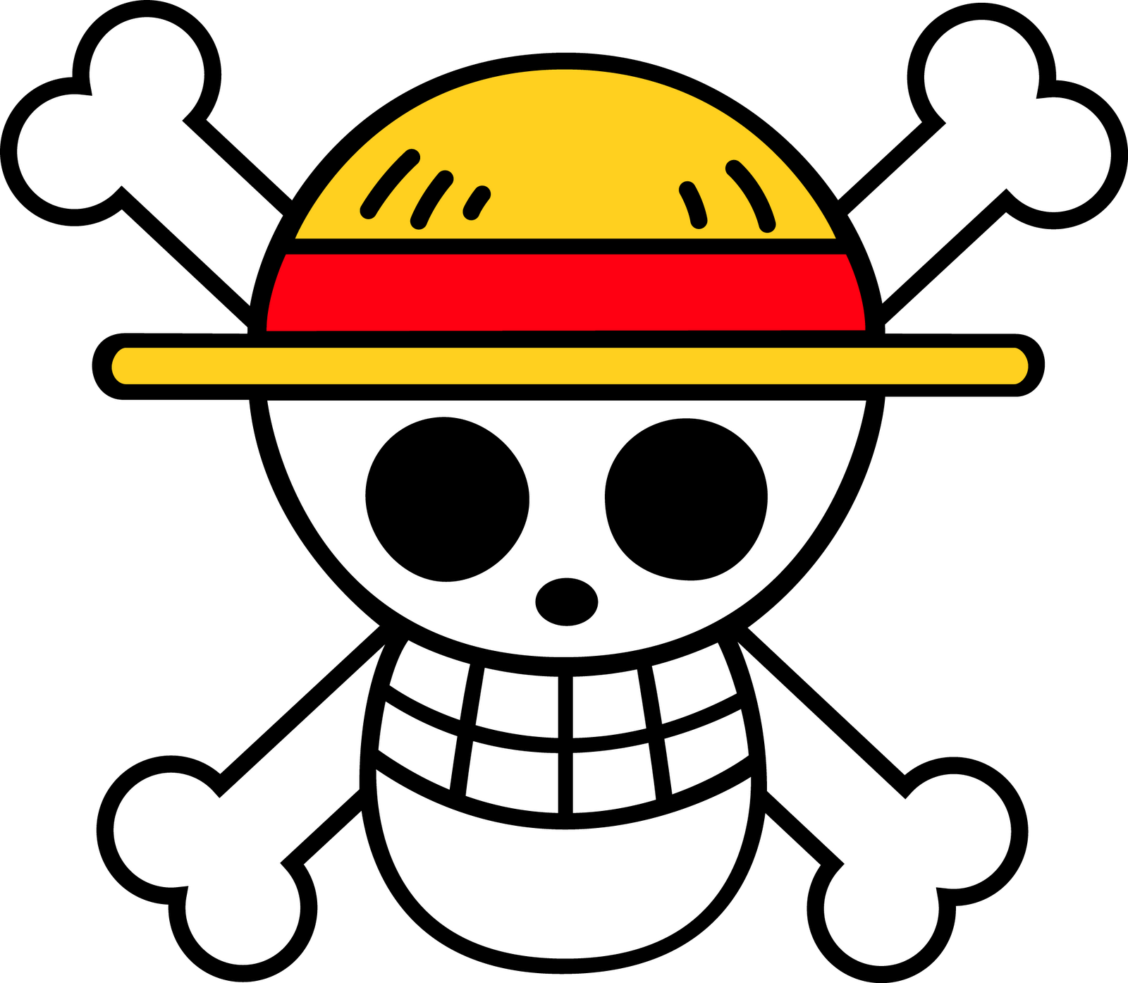 One piece logo flag clipart best - Stickers muraux one piece ...