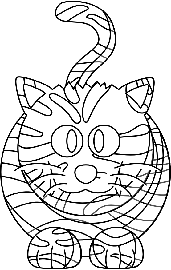 Tiger white cartoon clipart best for White tiger coloring pages