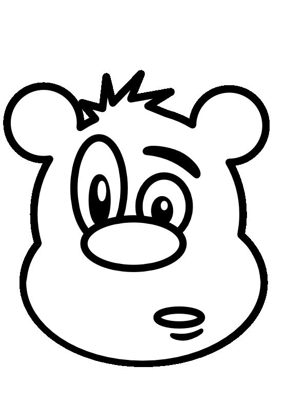 Clip Art Bear 1 Black White Line Art Teddy