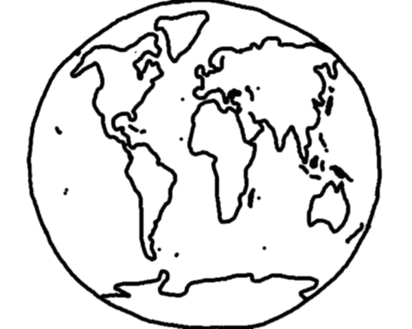 Line Drawing Map Of The World : World map line drawing clipart best