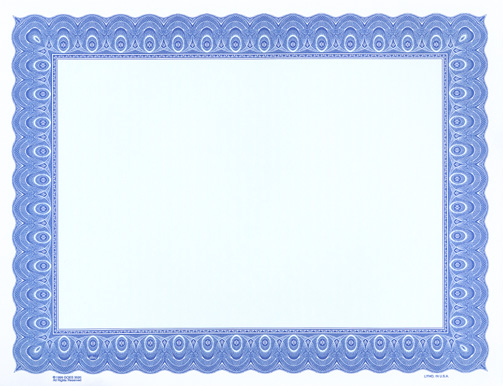 blue certificate border template - certificate border template free clipart best