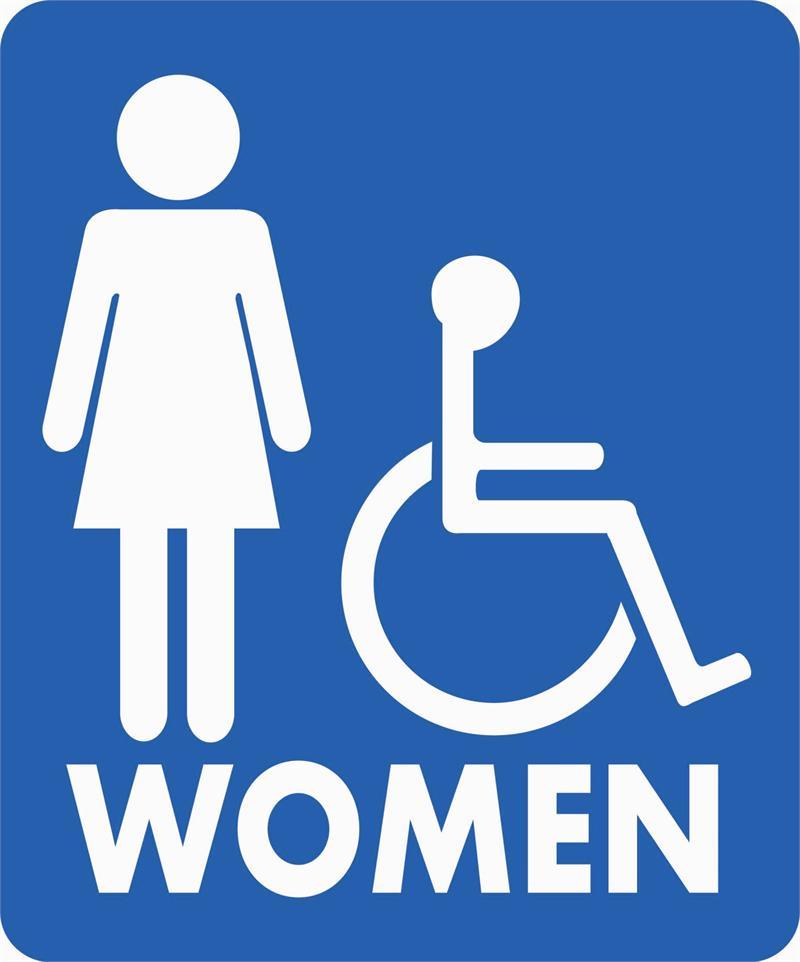 Famous women s restroom sign clip art for Women s bathroom sign