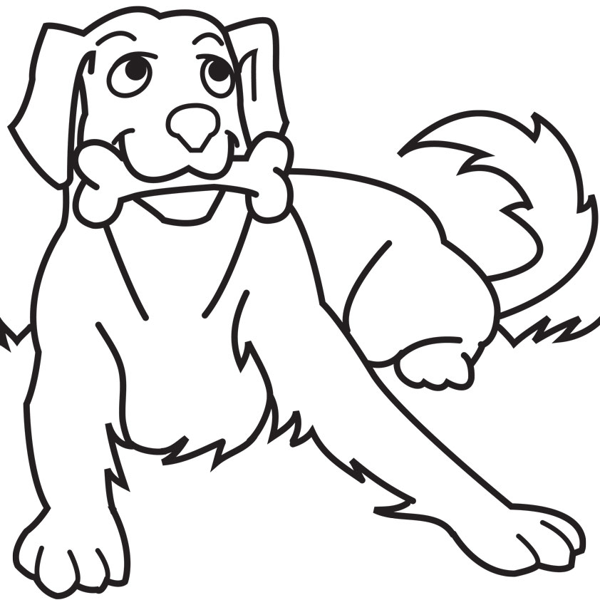 Line Drawing Of Dog : Dog line drawing clipart best