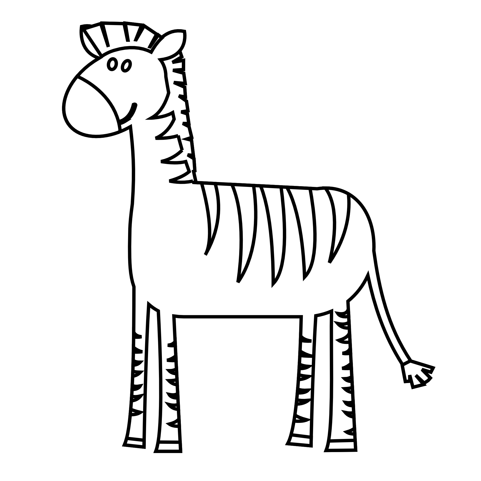 Line Drawing Zebra : Zebras drawing clipart best