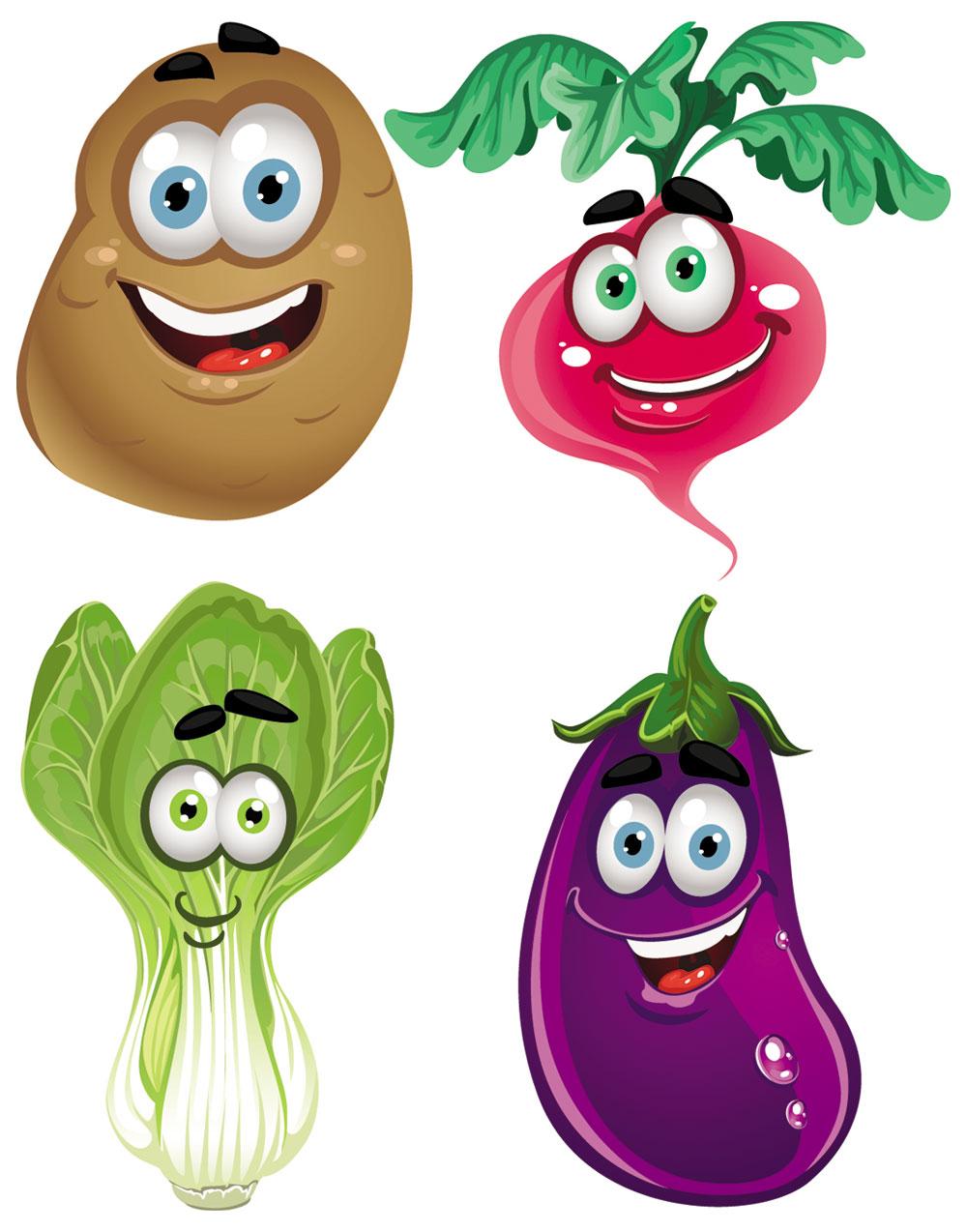 clip art cartoon vegetables - photo #3