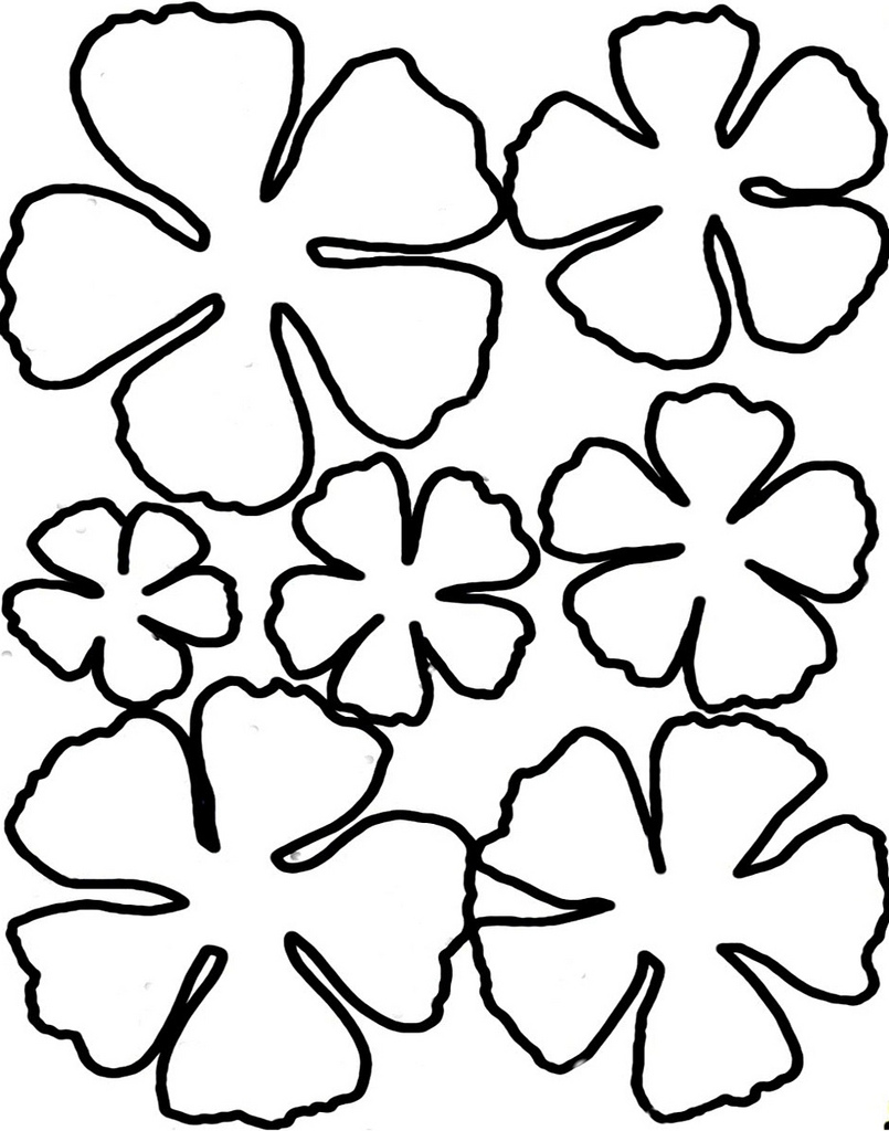 Printable flower petal template clipart best for Free printable paper flower templates