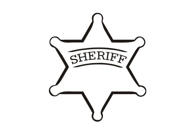 Star sheriff badges clipart best for Police badge template for preschool