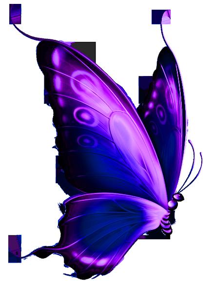 Transparent blue and purple deco butterfly png clipart clipart best clipa - Idee deco vase transparent ...