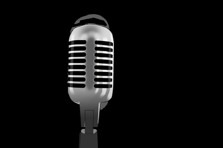 retro microphone clip art