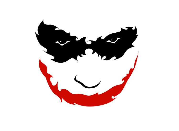 joker batman symbol