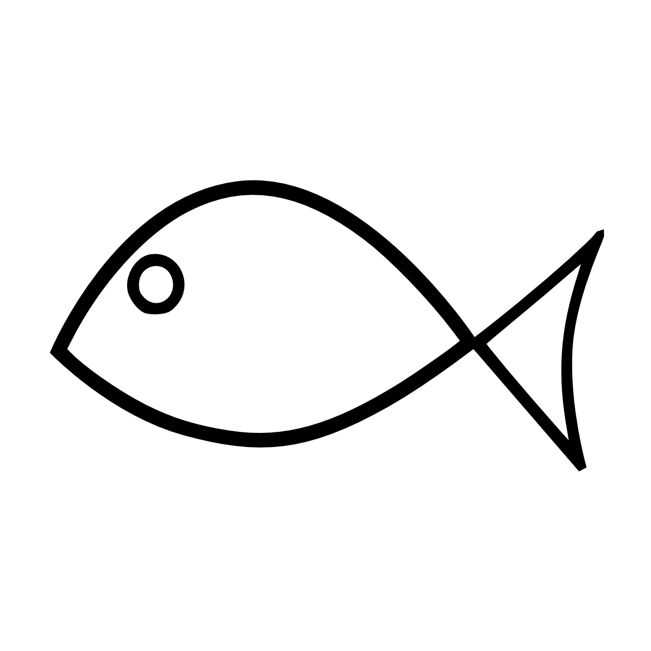 Line Drawing In Computer Graphics : Fish picture clipart best