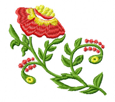 Flower Embroidery Design - ClipArt Best