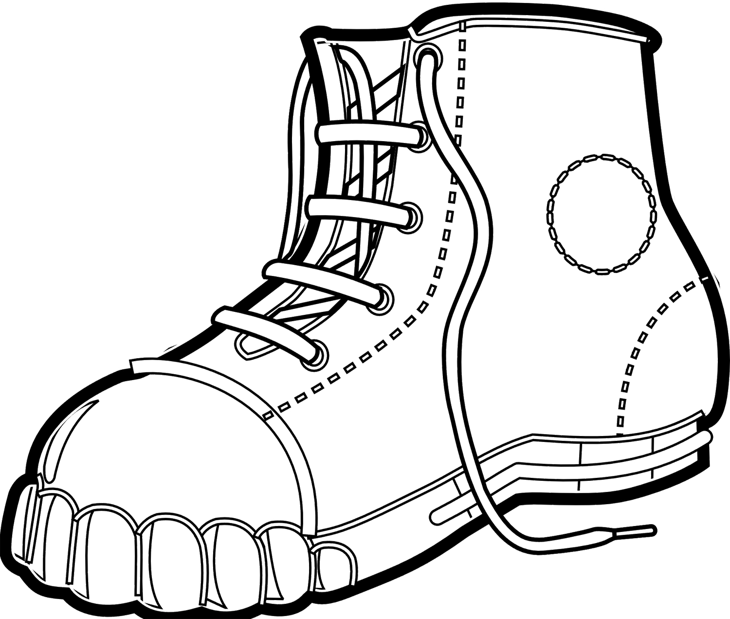 printable cowboy boots coloring pages - photo#23