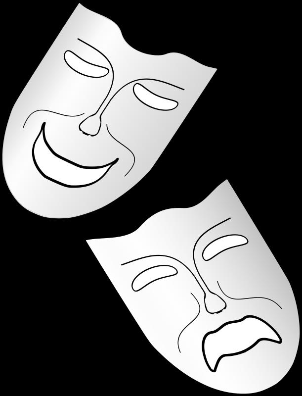 Greek Theatre Masks - ClipArt Best