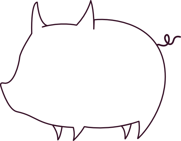 Outline Of A Pig Clipart Best