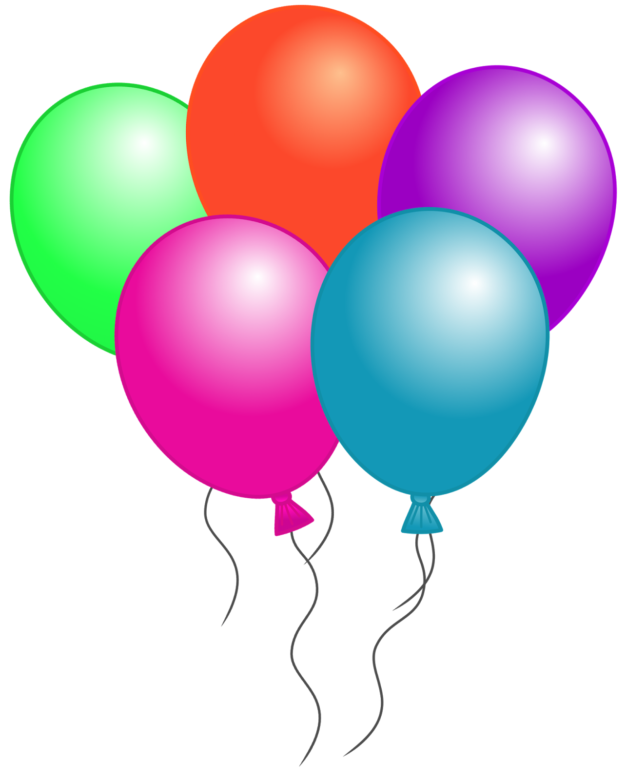 Image of Balloon Clip Art #296, Happy Birthday Clipart Holidays ...