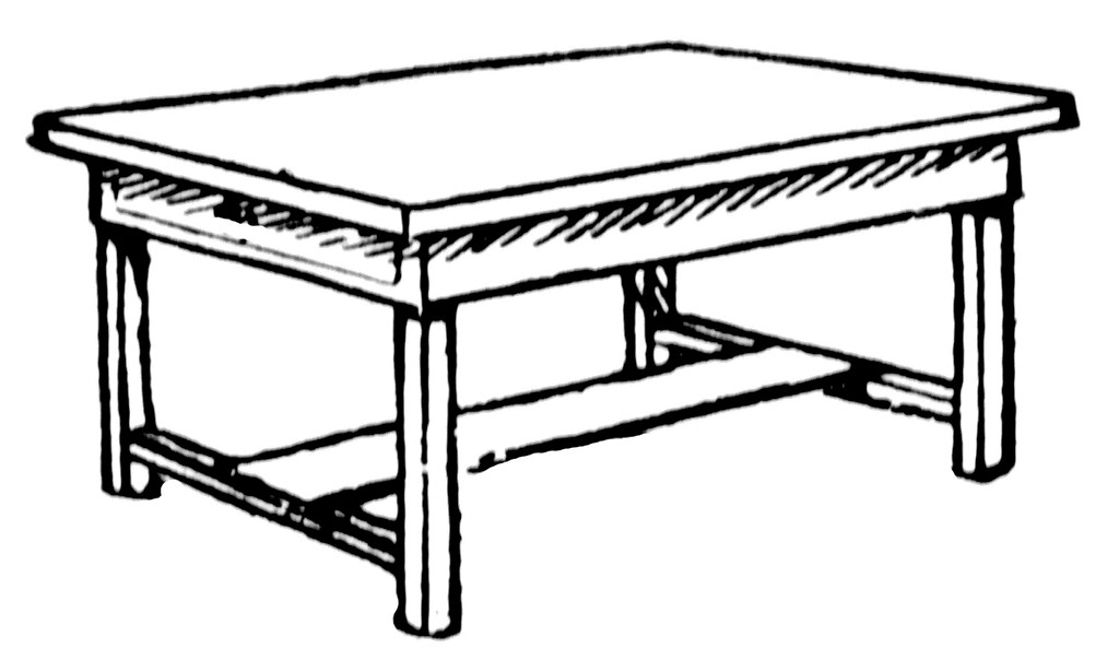 Table Clipart Black And White Clipart Best
