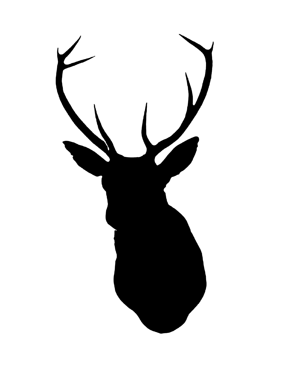 free deer head silhouette clip art - photo #19
